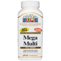 21st Century, Mega Multi, For Men, Multivitamin & Multimineral - 90 Tablets