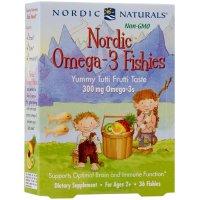 Nordic Naturals, Nordic Omega-3 Fishies, Yummy Tutti Frutti Taste, 300 mg - 36 Fishies