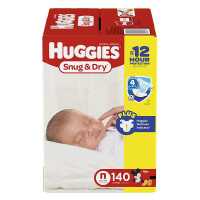 Huggies, Snug & Dry Diapers, (Size: Newborn~ Size 6) *Packaging May Vary