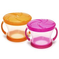 Munchkin, Snack Catcher - 2 Piece (Pink/Orange)