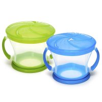 Munchkin, 2 Piece Snack Catcher - Blue/Green
