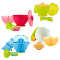 Nuby, Garden Fresh Steam N' Mash Baby Food Prep Bowl and Food Masher (Colors May Vary)