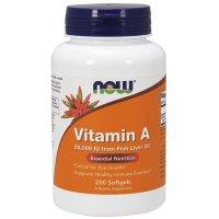 Now Foods, Vitamin A, 25,000 IU - 250 Softgels