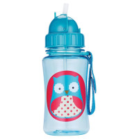 SKHP, Zoo Straw Bottle, Holds 12 oz  *Select Color