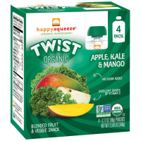 Happy Baby, Happy Squeeze Twist Organic Superfoods - 3.17 Ounce (Pack of 16)  *Select Flav