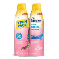 Coppertone, Water Babies Sunscreen Lotion and Spray SPF 50 - Twin Pack (6 fl oz each)