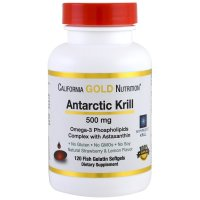 California Gold Nutrition, Antarctic Krill Oil, with Astaxanthin, RIMFROST, Natural Strawb