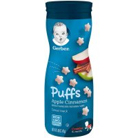 Gerber, Puffs Cereal Snack, Crawler, 8+ Months - 1.48 oz (42 g)  *Select Flavor