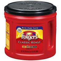 Folgers, Classic Roast Ground Coffee, Medium Roast - 30.5 Oz (865 g)
