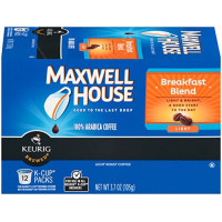 Maxwell House, Breakfast Blend Coffee, K-CUP Pods, 12 count - 3.7 Oz (105g)