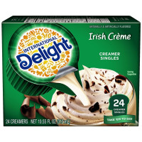 International Delight, Irish Creme Coffee Creamers Single-Serve, 24 ct - 10.55 oz (312 ml)