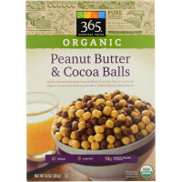 365 Everyday Value, Organic Peanut Butter and Cocoa Balls Cereal - 10 oz (283 g)