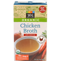 365 Everyday Value, Organic Low Sodium Chicken Broth - 32 oz (946 ml)