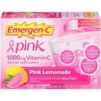 Emergen-C, Vitamin C, Flavored Fizzy Drink Mix, Pink Lemonade Flavor, 1,000 mg, 30 Count -
