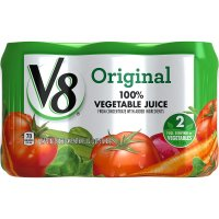 Cambell's, V8, 100% Vegetable Juice, Original (Pack of 6)  - 11.5 oz (340 ml) each