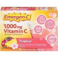 Emergen-C, Vitamin C, Flavored Fizzy Drink Mix, Tropical Flavor, 30 Count - 9.6 oz (276 g)