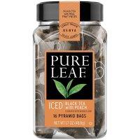 Pure Leaf, Iced Tea Bags, Black Tea with Peach 16 Count - 1.7 oz (48.8 g)