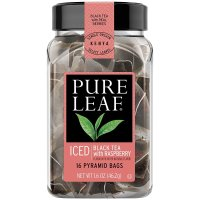 Pure Leaf, Iced Tea Bags, Black Tea with Raspberry 16 Count - 1.6 oz (46.2 g)