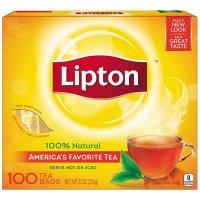 Lipton, Black Tea Bags, 100% Natural, 100 Tea Bags - 8 oz (226 g)