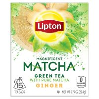 Lipton, Magnificent Matcha, Green Tea Bags, Ginger, 15 bags - 0.79 oz (22.4 g)