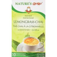 Nature's Guru, Lemongrass Tea Sweetened, 10 Powder Packets - 8.82 oz (250 g)
