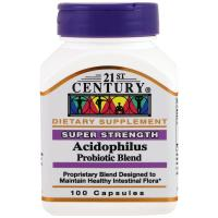 21st Century, Super Strength Acidophilus Probiotic Blend Capsules -100 count