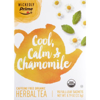 Wickedly Prime, Organic Herbal Tea, Premium Chamomile Tea Sachets, 15 count - 0.79 oz (22.