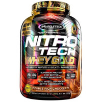 Muscletech, Nitro Tech, 100% Whey Gold, Double Rich Chocolate - 5.53 lbs (2.51 kg)
