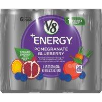 Campbell's, V8 +Energy, Pomegranate Blueberry, 6 count - 8 fl oz (237 ml) each