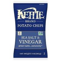 Kettle Brand, Potato Chips, Sea Salt & Vinegar, 5 oz (142 g)