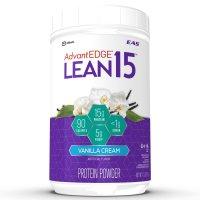 EAS, AdvantEDGE Lean15 Protein Shake Powder, 15 grams of Protein, Vanilla Cream - 1.7 lb (