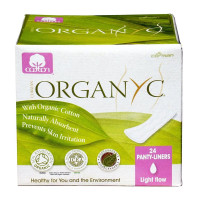 Organyc, Cotton Folded Panty Liners,  Light Flow - 24 Pack