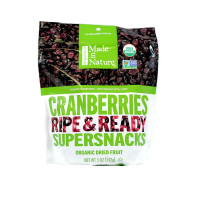 Made in Nature, Organic Cranberries Ripe & Ready Supersnacks - 5 oz (142 g) x 3 Packs