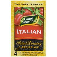 Good Seasons, Salad Dressing & Recipe Mix, Italian, 4 Count - 0.7 oz (19 g) each