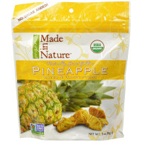 Made In Nature, Organic Dried Pineapple - 3 oz (85 g) x 3 Packs