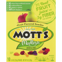 Mott's, Assorted Fruit Flavors, 10 Pouch - 0.8 oz (22.6 g) each x 6 Packs