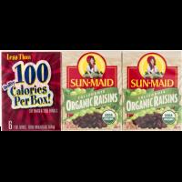 Sun-Maid, Organic Raisins, 6 Count - 1 oz (28.3 g) each