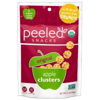 Peeled Snacks, Organic Original Apple Clusters, Apple Crunch - 2.1 oz (60 g) x 4 Packs