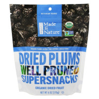 Made In Nature, Organic Plums - 6 oz (170 g) x 3 Packs