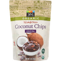 365 Everyday Value, Organic Toasted Coconut Chips Cocoa - 3 oz (85 g) x 4 Packs