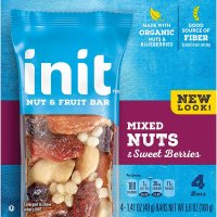 Init Nut and Fruit Bar, Mixed Nuts and Sweet Berries, 4 Count - 1.41 oz (40 g) each x 3 Pa