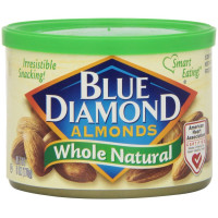 Blue Diamond, Almonds Whole Natural - 6 oz (170 g) x 4 Packs