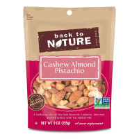 Back to Nature, Cashew Almond Pistachio Mix, Non-GMO Kosher - 9 oz (255 g)