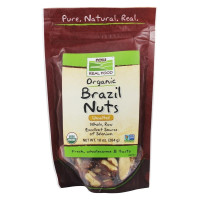 Now Foods, Real Food, Organic Brazil Nuts, Unsalted - 10 oz
