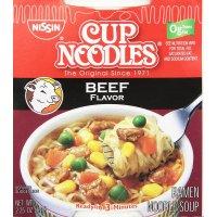 Nissin, Ramen, Cup Noodles Soup, Beef - 2.25 oz (64 g)