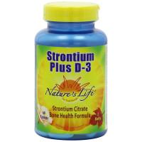 Nature's Life, Strontium Plus D-3 - 60 Tablets