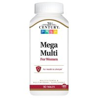 21st Century, Mega Multi, For Women, Multivitamin & Multimineral - 90 Tablets