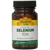 Country Life, Selenium, 100 mcg - 180 Tablets