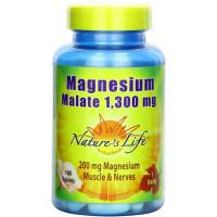 Nature's Life, Magnesium Malate, 1,300 mg - 100 Tablets