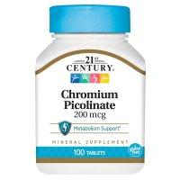 21st Century, Chromium Picolinate, 200 mcg - 100 Tablets